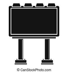 広告板, アイコン, スタイル, 現代, 単純である
