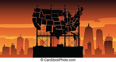 広告板, アメリカ