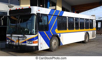 広告板, バス, 公衆, 広告, ブランク