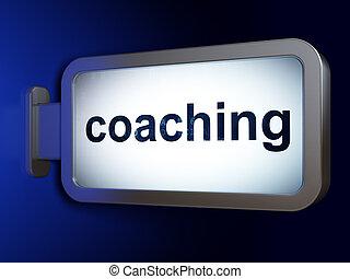 広告板, 勉強, コーチ, concept:, 背景