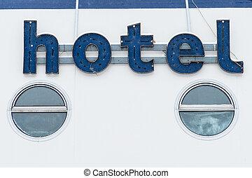 広告板, 型, ホテル, -, 印