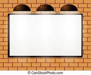 広告板, 壁, ブランク