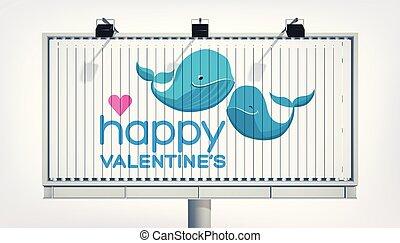 広告板, 愛, テンプレート, お祝い
