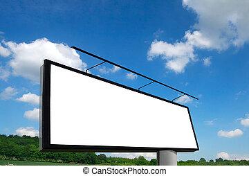 広告板, 新しい, 青い空