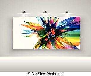 広告板, 現実的, ベクトル, ライト, イラスト