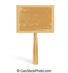 広告板, 白, 木, 背景, 手ざわり