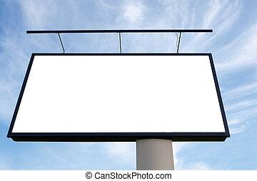 広告板, 青, 巨人, 空