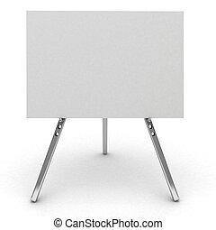 広告板, 3d, 隔離された, white.