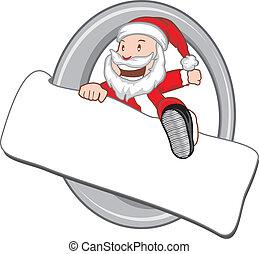 広告板, santaclaus, クリスマス