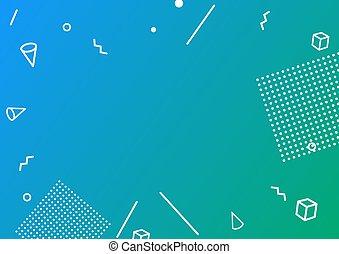 広告, プラカード, 幾何学的, billboard.vector, 旗, 平ら, イラスト, 抽象的, スタイル, テンプレート, デザイン