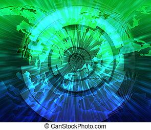 広周波数域の, データ, 技術, インターネット