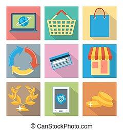 広場, アイコン, ∥ために∥, インターネット買い物, そして, 銀行業