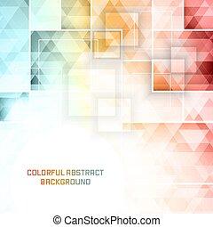 広場, カラフルである, pattern., ベクトル, 背景, モザイク