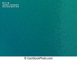 広場, パターン, の, 現代, デジタルバックグラウンド, 中に, 青, gradient.