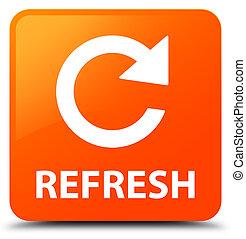 広場, ボタン, 新たにしなさい, 矢, オレンジ, (rotate, icon)