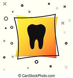 広場, 中心, package., 歯磨き粉, シンボル, ∥あるいは∥, 隔離された, 黄色, button., バックグラウンド。, 医院, ベクトル, 黒, イラスト, 歯科医術, 白い歯, 歯科医, 医学, アイコン