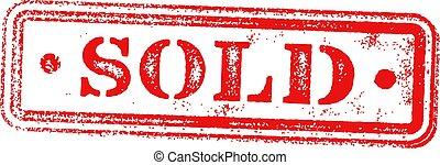 広場, 切手, 型, 売られた, 隔離された, grungy, 赤