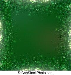 広場, 勾配, bokeh, 緑の背景, ボーダー, クリスマス