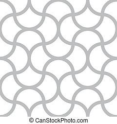 広場, 単純である, パターン, -, seamless, ベクトル, ライン, 背景, モノクローム, 白, 幾何学的