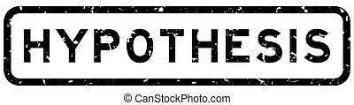 広場, 単語, 切手, ゴム, 黒い背景, シール, グランジ, hypothesis, 白
