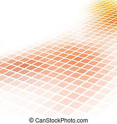 広場, 抽象的, バックグラウンド。, ベクトル, オレンジ, モザイク