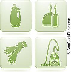 広場, 清掃, 2d, set:, olivine, アイコン