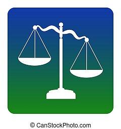 広場, 緑の青, スケール, isolated., コーナー, 印。, 勾配, 正義, バックグラウンド。, vector., 円形にされる, 白, アイコン