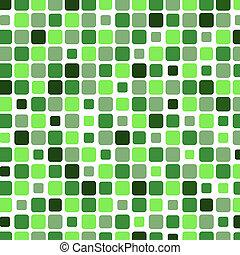 広場, 緑, モザイク, 背景