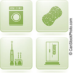 広場, 2d, set:, 浴室, コバルト, アイコン