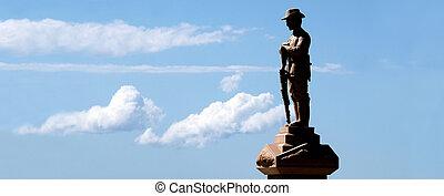 広場, anzac, 金の海岸, オーストラリア, queensland