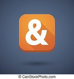 広場, app, 長い間, アンパーサンド, 影, ボタン