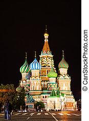 広場, basil's, モスクワ, st., 教会, 赤