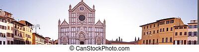 広場, croce, フィレンツェ, santa