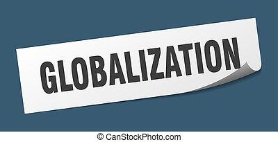 広場, globalization, 印。, 皮むき器, globalization., sticker.