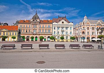 広場, novi, 自由, 悲しい, アーチ, 建築, 光景