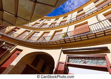 広場, redonda, プラザ, バレンシア, ラウンド, スペイン