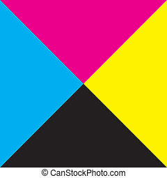 広場, trianges, 黄色, 4, 黒, makenta, 背景, シアン