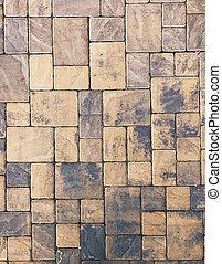 床, セメント, 舗装, 背景, れんが, 厚板