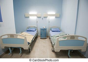 床, 在, a, 私人, 醫院沃德