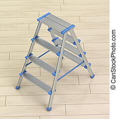 床, 木製のはしご