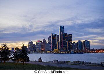 底特律, 地平線, 由于, 世界, 總部, 為, 一般, 馬達, c