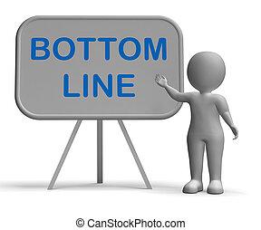 底, whiteboard, 減らしなさい, コスト, 収入, 線, 成長しなさい, ショー