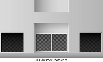 店の窓, ブティック, ベクトル, ∥あるいは∥, 店