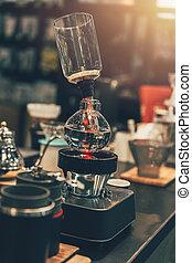 店, コーヒー, 色, 型, syphon, カフェ, メーカー