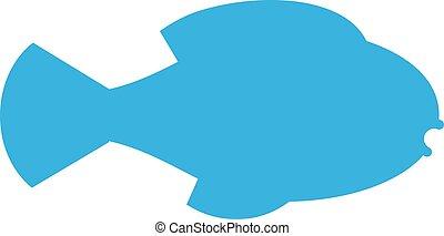 店, シルエット, illustration., 決め付けること, fish, 鮭, ベクトル, デザイン, ...