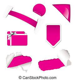 店, セール, 要素, ピンク