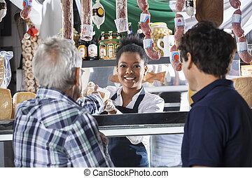店, チーズ, 顧客, 販売, 女子販売員, マレ