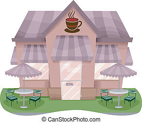 店, ファサド, コーヒー