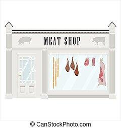店, ファサド, 肉屋