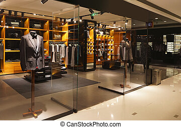 店, ファッション, 店先, 現代, ショーケース